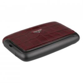 Tru Virtu Card Case Leather Croco Bordeaux Tassel 20104000205 vínová